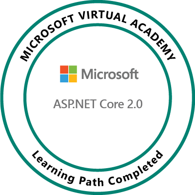 ASP.NET Core 2.0 Learning Path Completed